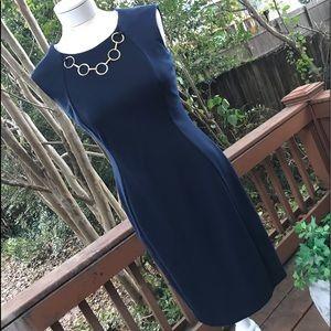 Calvin Klein Navy Blue Office Dress